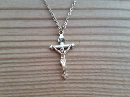 necklace crucifix cross images Silver jesus christ crucifix cross pendant 24 necklace li jacobs jpg