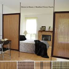 bamboo privacy panel screen room divider house pinterest