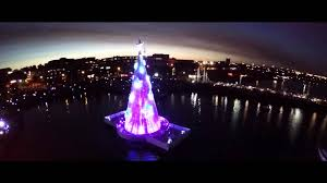 floating christmas tree lights up geelong youtube