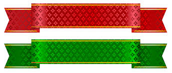 christmas ribbon green and banner set png clipart picture gallery