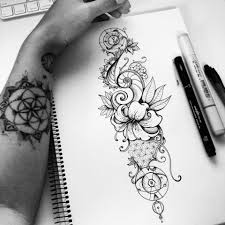 tattoo designs on the arm geometric nature tattoo design on behance ilustração 6