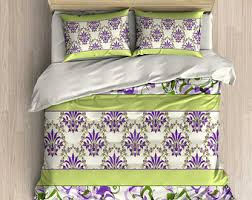 Duvet Cover Lavender Blue Bedding Duvet Cover Comforter Pillow Case Set Purple