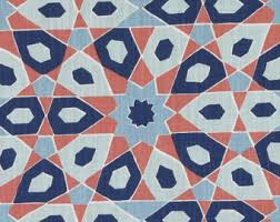 Geometric Orange Curtains Navy Blue Copper Geometric Upholstery Fabric Contemporary