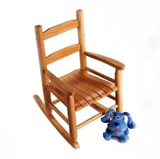 Nursery Room Rocking Chair by Furniture Vintage Solid Wood Baby Rocking Chair With Blue Dog
