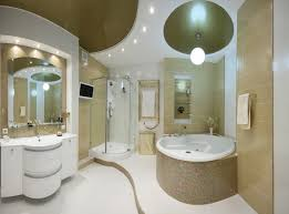 bathroom beautiful grained accent wall with recessed lights also