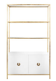 Gold Bar Cabinet Wyeth White Gold Leaf Etagere Shop Now