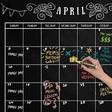 amazon com large erasable chalkboard calendar wall decal sticker amazon com large erasable chalkboard calendar wall decal sticker 24