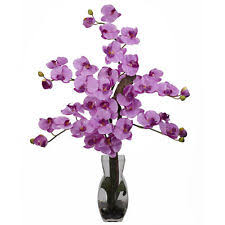 Fake Orchids Orchid Glass Dried U0026 Artificial Flowers Ebay