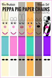 peppa pig paper chains u2013 free printables u2013 friends set