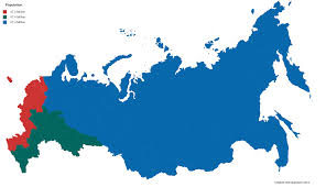 russia map by population russian population split into 3 equal areas 5460x3150 oc mapporn