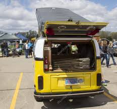 Vw Westfalia Camper Bus Rear View U2013 Stock Editorial Photo