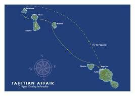Map Of Bora Bora Luxury Small Ship Cruising Tahiti Nui Travel