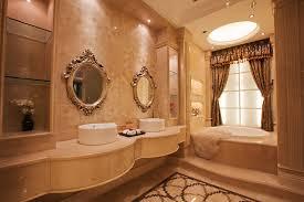 marvellous elegant bathroom with beams