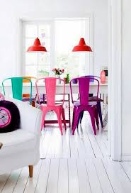 Different Color Dining Room Chairs Colorful Dining Chairs Modern Mix Up Design