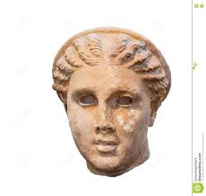 goddess artemis head ancient greek sculpture stock photo image