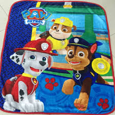 textiles paw patrol children cartoon pattern coral fleece paw