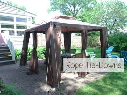 Backyard Gazebos Canopies by Tips To Secure A Gazebo Canopy On A Paver Patio