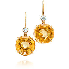 citrine earrings sparklers citrine drop earrings co polyvore