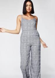 gray jumpsuit plaid wide leg jumpsuit dolls kill
