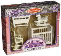 solid wood nursery furniture sets amazon com melissa u0026 doug classic wooden dollhouse nursery