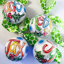 monogrammed ornament jolly with name ornament