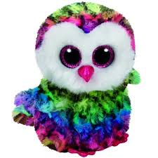 owen rainbow owl beanie boo small 6 stuffed animal ty