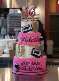 sweet 16 cakes hip hop princess sweet 16 cake bakeshop
