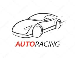 supercar drawing concept auto racing car logo with supercar sports vehicle