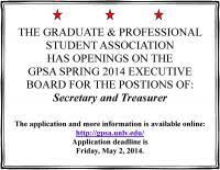 gpsa e board 2014 u2013 2015 open positions secretary and treasurer