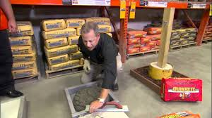 Lowes Concrete Walkway Molds by Quikrete Concrete Youtube