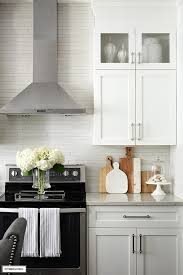 kitchen cabinets with silver handles white and grey kitchen a hardware update citrineliving