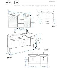 Standard Size Double Bowl Kitchen by Vanities Bathroom Vanity Measurements For Unique Double Vanity