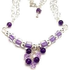 swarovski beaded necklace images Purple necklace beaded bar necklace amethyst gemstone cane jpg