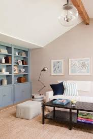 Living Room Cabinets Built In by Gray And Blue Living Room With Blue Built In Cabinets