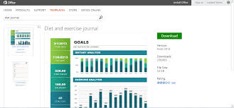 free office templates or printables for fitness goals