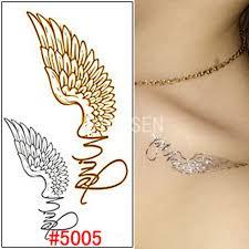 wings tatoo flash metallic gold flash tattoos
