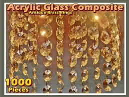 1000 chandelier drops light parts acrylic glass mix antique rings