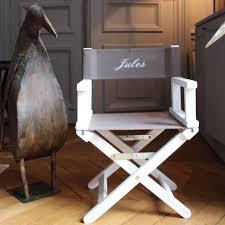 chaise metteur en sc ne b b cadeau naissance personnalisé chaise metteur en scène prénom brodé