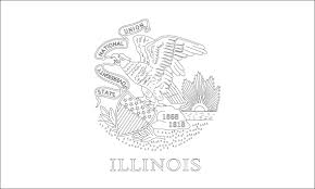 Illinois Blank Map by Illinois State Flag Coloring Page Picture 9513