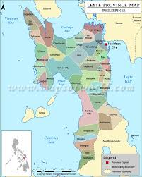 Phillipines Map Leyte Map Map Of Leyte Province Philippines