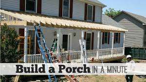 cost to build a porch crafts home