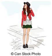 vectors of fashion sketch editable vector sketch of a fashion