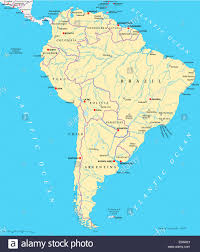 Physical Map Of South America Rivers by Physical Map Of South America At River Roundtripticket Me