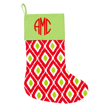 ikat christmas stocking monogrammed christmas stockings