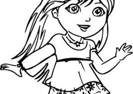 dora coloring pages coloring4free