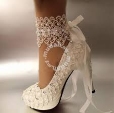 wedding shoes johor bahru bridal wedding white flower lace party prom heels shoes for sale