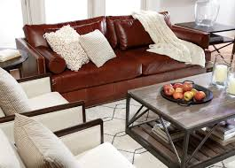 Decorating Ideas For Living Rooms With Brown Leather Furniture Ethan Allen Leather Furniture For Charming And Comfortable Home