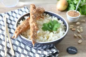cuisine dinde brochettes de dinde fermière à la sauce satay la recette de