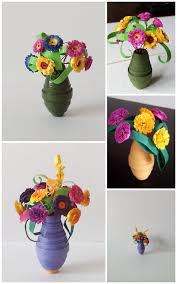 100 paper flower pots paper flower pot craft for kids