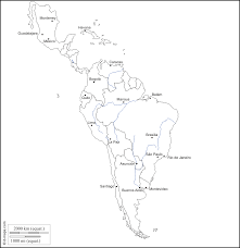 Latin America Map by Outline Map Of Central And South America Outline Map Of Central
